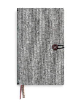 Tinne & Mia - Linen Notebook with Button - Moss Agate