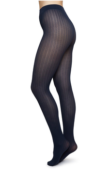 Swedish Stockings - Alma Pantyhose Rib - Navy