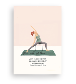 Lykkefund Paper - YOGA - YOU WILL GET THERE - Postkarte