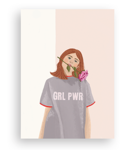 Lykkefund Paper - GIRL POWER - Postkarte
