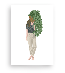 Lykkefund Paper - PLANT LADY  PHILODENDRON - Postkarte