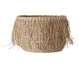 Bloomingville - Basket klein 3er Set - Natur mit Fransen