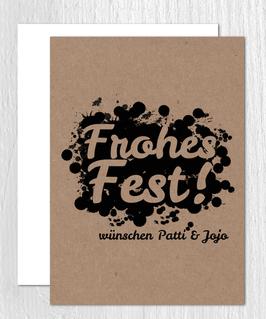 Klappkarte -Frohes Fest Splash- individualisierbar