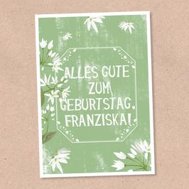 Postkarte -Vintage Flowers 2- individualisierbar