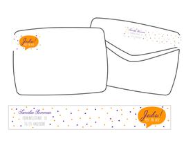 WrapAround Etiketten -Sprechblase mit Punkten-