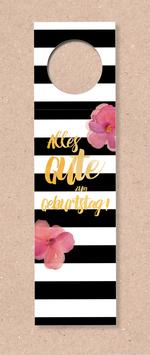 Flaschenanhänger -Streifen&Blumen-
