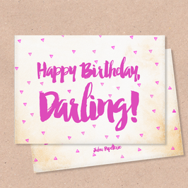 Klappkarte -Darling-