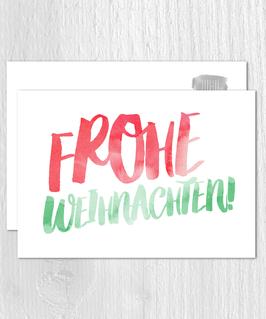 Postkarte -Frohe Weihnachten-