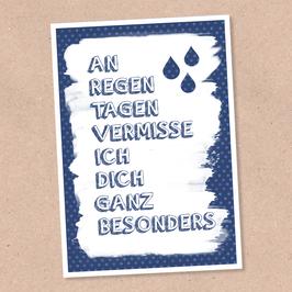Postkarte -Regentage-