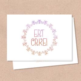 Klappkarte -Eat Cake-