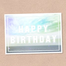 Postkarte -Happy Birthday Meer-