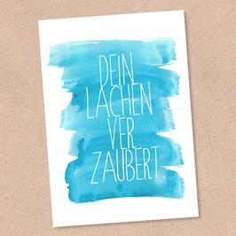 Postkarte -dein Lachen verzaubert-