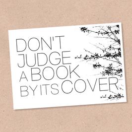 Postkarte -Don't judge-