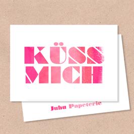 Klappkarte -Küss Mich-