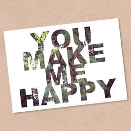 Postkarte -HAPPY-