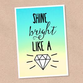 Postkarte -Diamond-