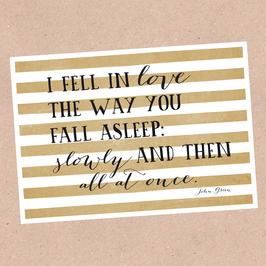 Postkarte -Fell in Love-