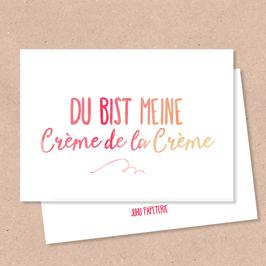 Klappkarte -CrèmedelaCrème-