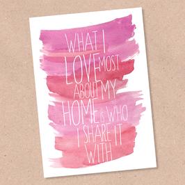 Postkarte -Love Home-