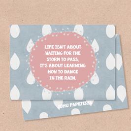 Klappkarte -Dancing in the Rain-
