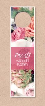 Flaschenanhänger -Blumenmeer- individualisierbar