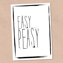 Postkarte -Easy Peasy-