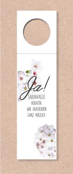 Flaschenanhänger -Ja! Kirschblüten- individualisierbar