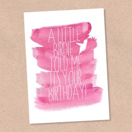 Postkarte -Little Birdie-