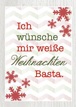 Postkarte -Weiße Weihnachten. Basta-
