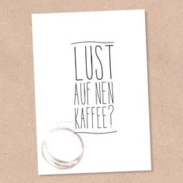 Postkarte -Kaffee?-