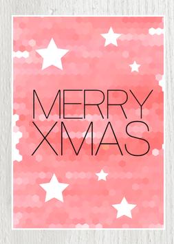 Postkarte -Merry Xmas-