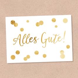 Postkarte -Alles Gute Glam-