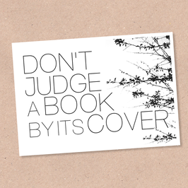 Postkarte -Don't judge-