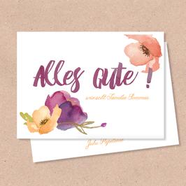 Klappkarte -Blüten- Individualisiserbar