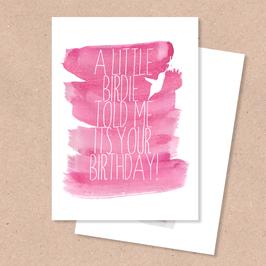 Klappkarte -Birdie Geburtstag-