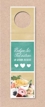 Flaschenanhänger -Blumenstrauß- individualisierbar