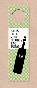 Flaschenanhänger -Flasche- individualisierbar