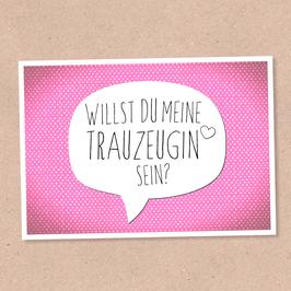 Postkarte - Trauzeugin -