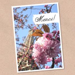 Postkarte -Merci-