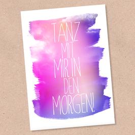 Postkarte -Tanz mit mir-