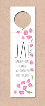 Flaschenanhänger -Ja! Blütenregen- individualisierbar