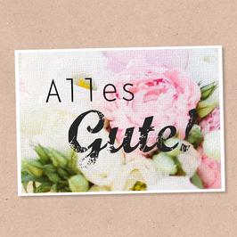 Postkarte -Alles Gute Blumen-