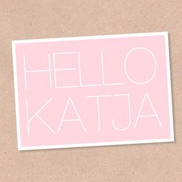 Postkarte -Hello- individualisierbar