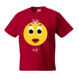 Kinder T-Shirt Lily . Rot