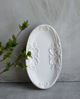 Porta sapone in ceramica decoro romantico