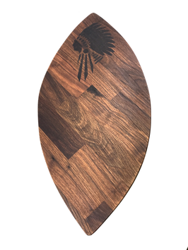 WOODEN BOARD HAND BURNED - CHIEF (Nussholz - limited edition)