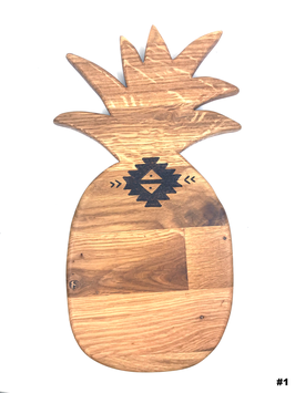 PINEAPPLE WOODEN BOARD HAND BURNED - SMALL