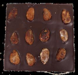 Tablette chocolat noir - Amandes caramélisées