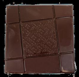 Tablette chocolat noir - Cœur caramel