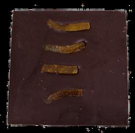 Tablette chocolat noir - Oranges confites